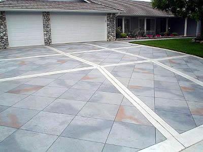 Concrete Driveway Design Ideas stencil driveway Stamped Concrete Patterns