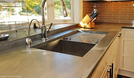 A Designer Shares His Thoughts On Countertop Materials Concrete