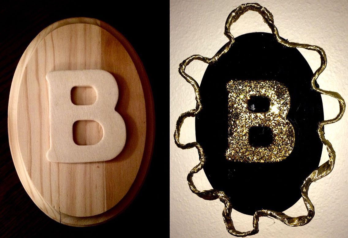 DIY letter decor for my bedroom(: