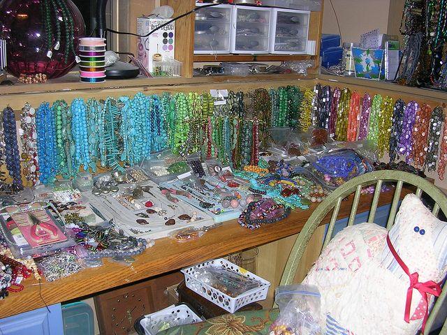 Beading Work Station In My Bead Room Craft Room Office Craft Room Bead Storage