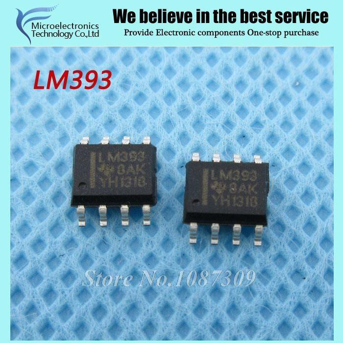 20pcs free shipping LM393 LM393DR LM393D SOP-8 Comparators Dual - free sop