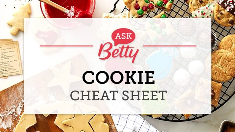 Ask Betty Cookie Cheat Sheet Christmas cookies, Betty crocker and