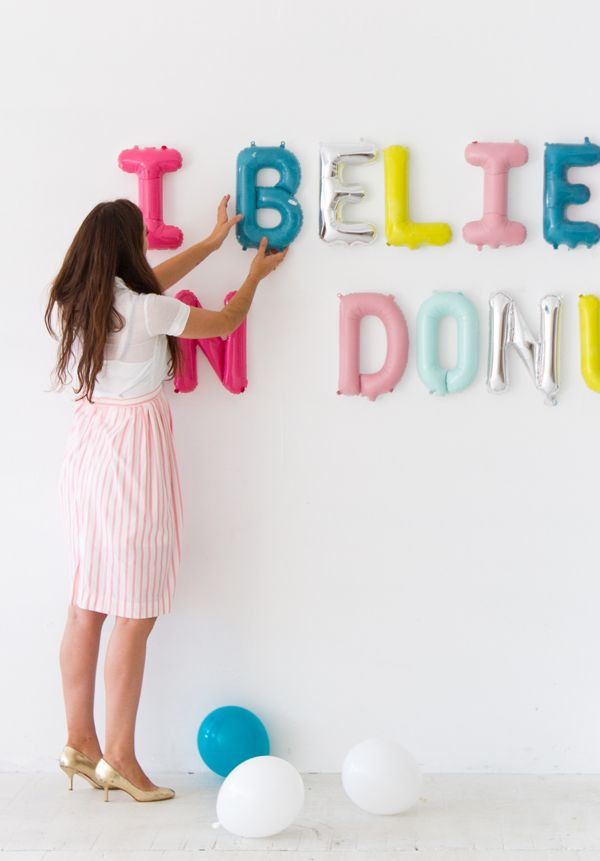 Painted Letter Balloons | Oh Happy Day!