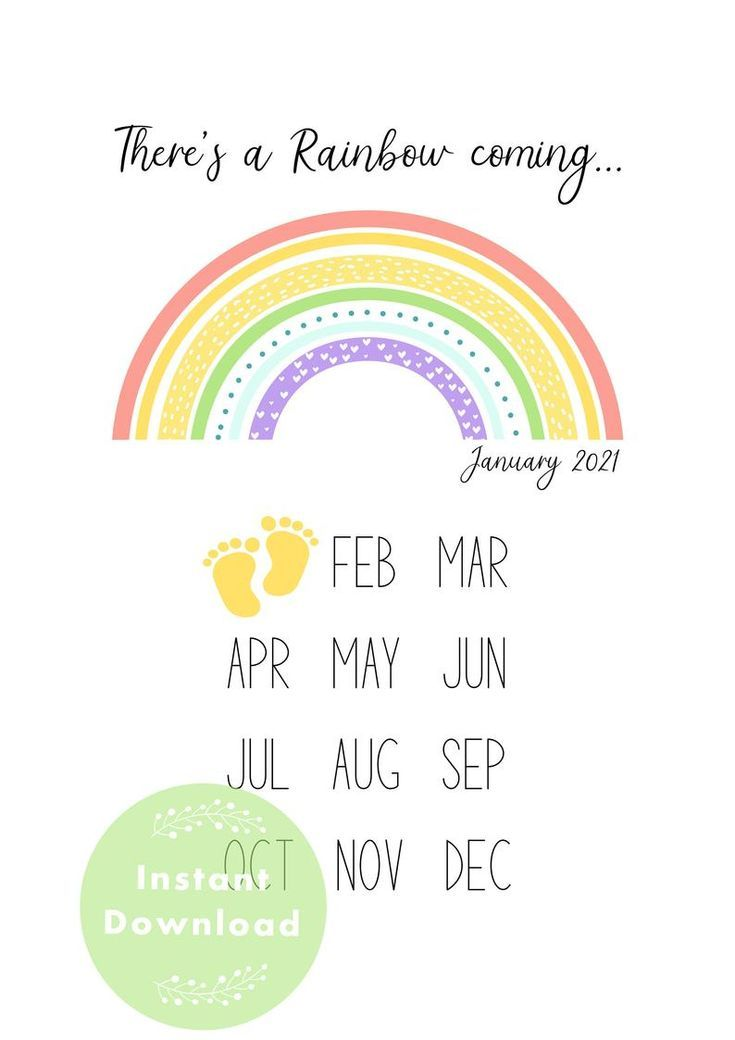 Oh Baby January 2021 in 2020 | Rainbow baby announcement ...