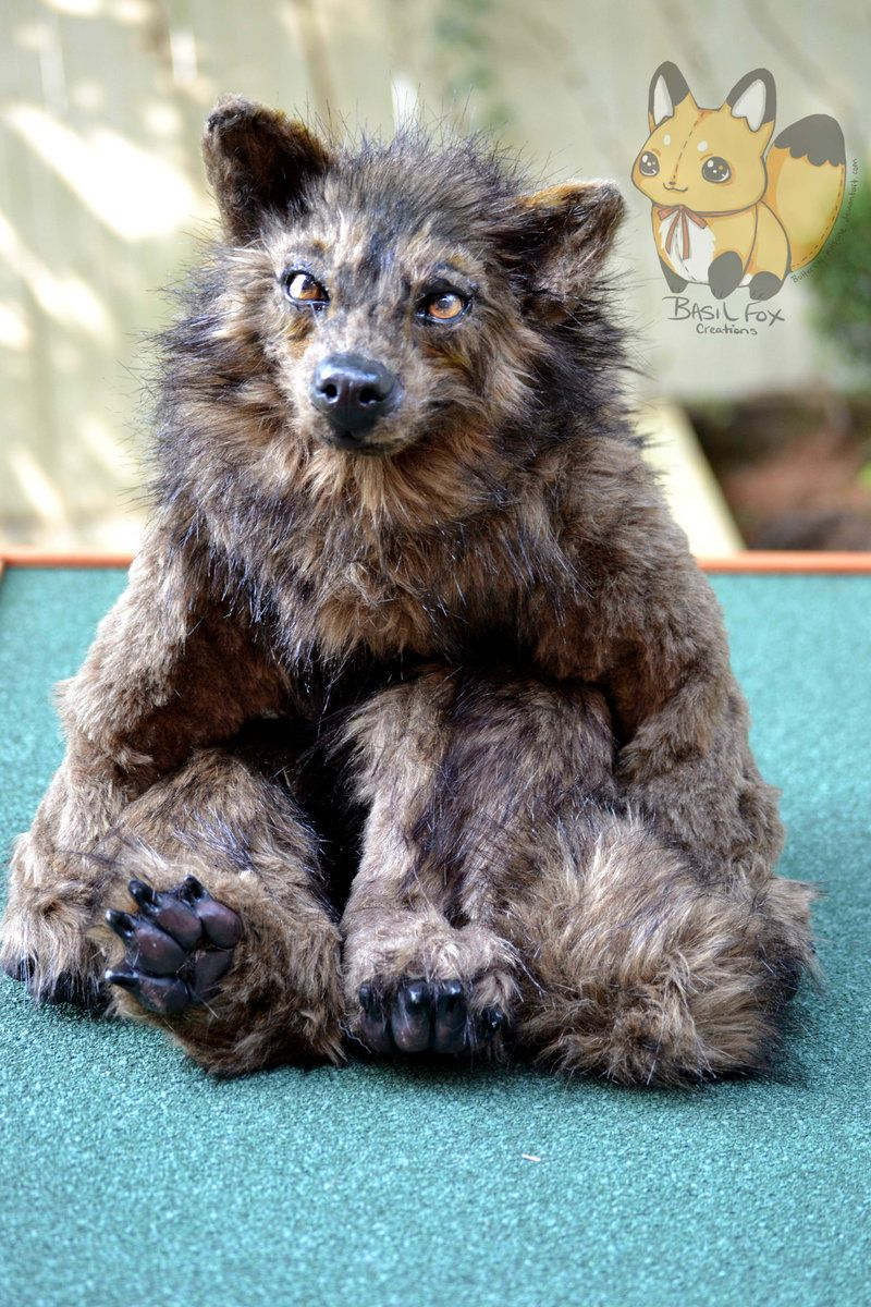 Wolf art doll by on