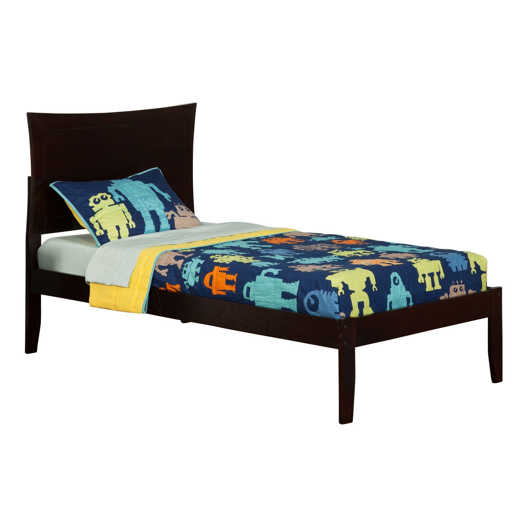 Metro Espresso Twin XLsize Openfoot Platform Bed (Size