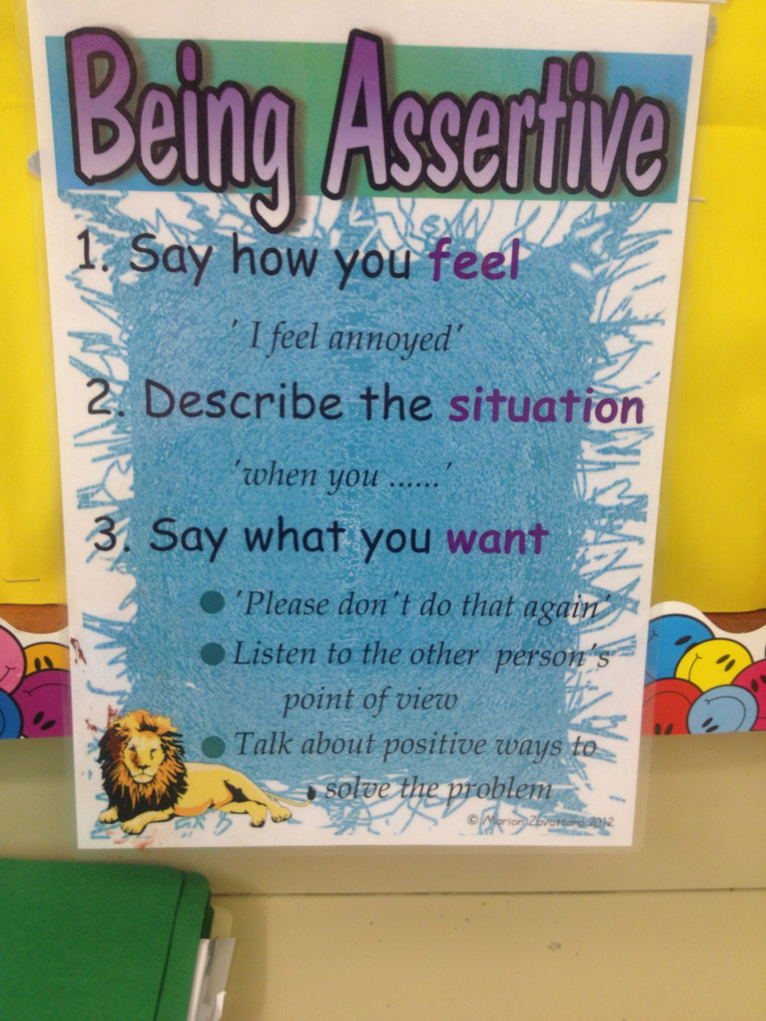 how to teach a child to be assertive