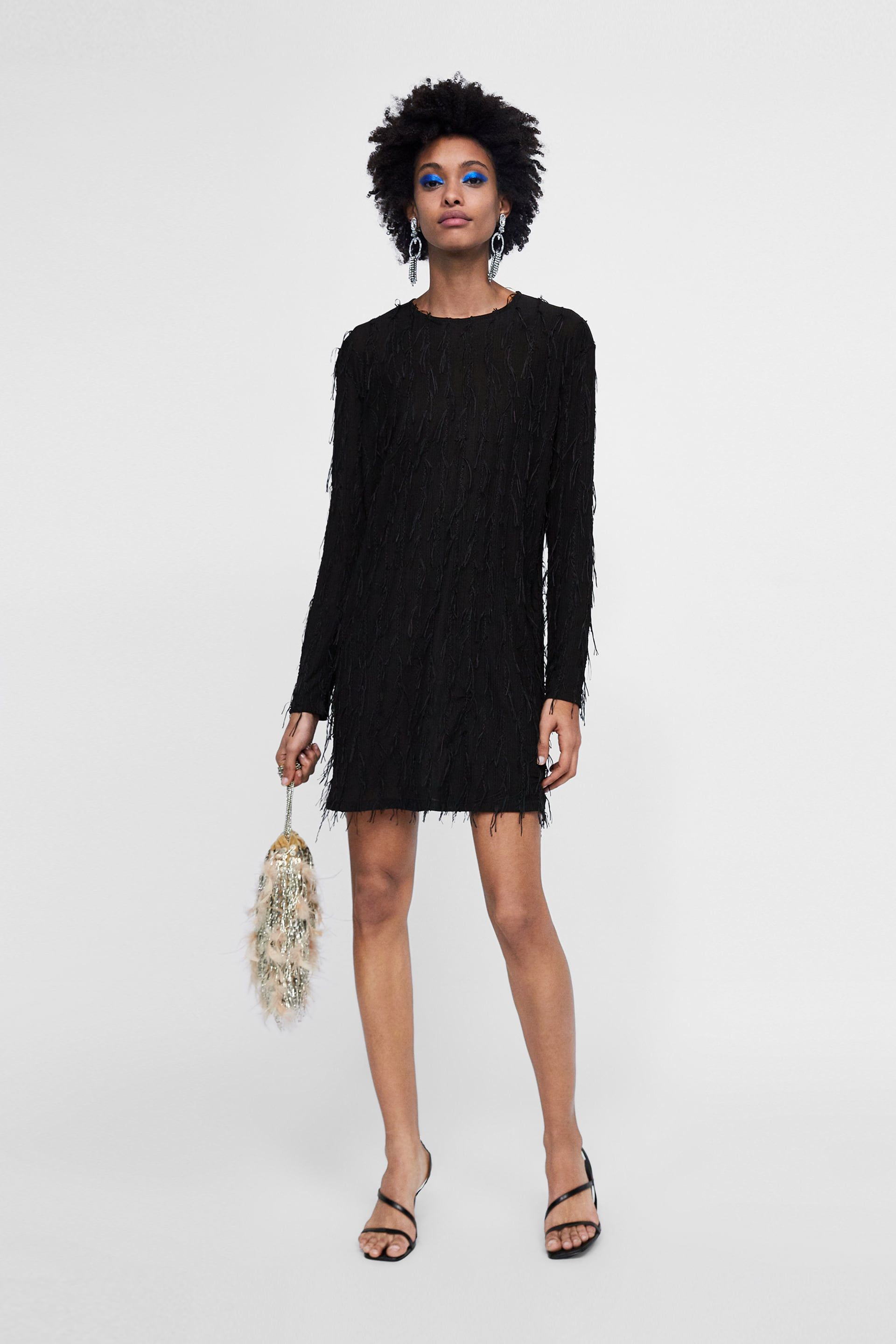 df9996ecbd4 Image 1 of FRINGED DRESS from Zara