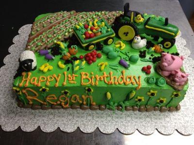 Pin By Meg Nguyen On Braden S 2nd B Day Farm Cake Cake