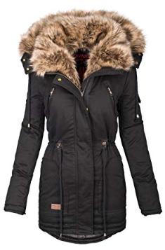 aa1645ffcee6  Navahoo  warme  Damen  Winter  Jacke  Parka  lang  Mantel  Winterjacke   Fell  Kragen