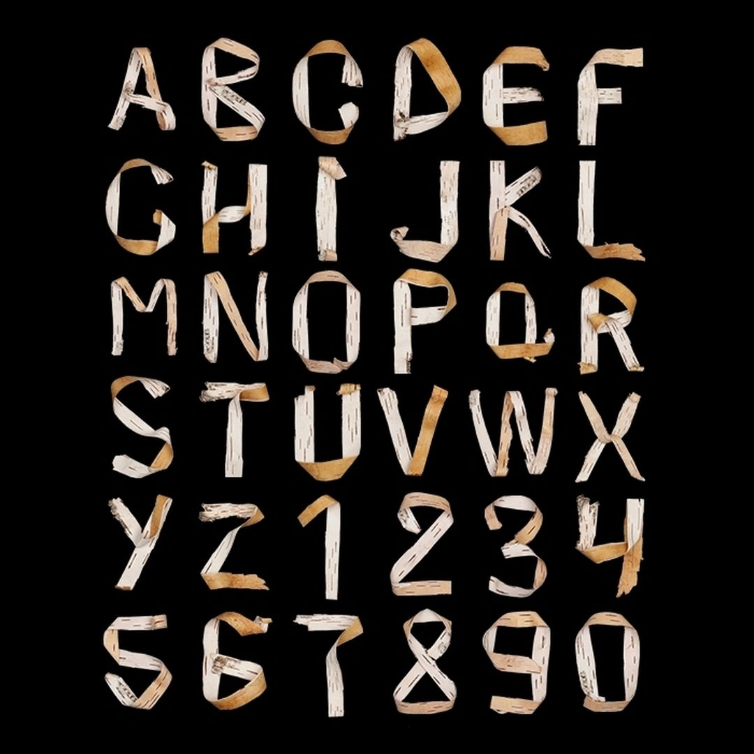 #Birch #bark #alphabet by #handmadefont View more at handmadefont.com