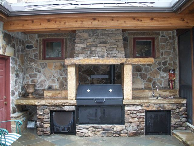 Built In Smokers Built In Smoker Outdoor Kitchen