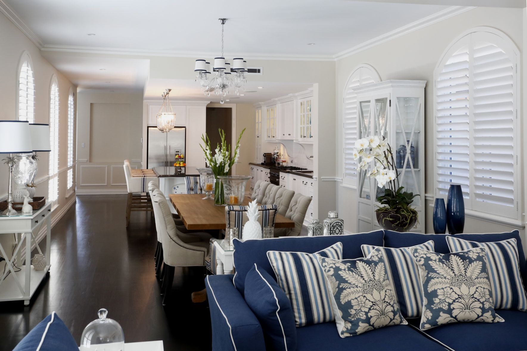 Hamptons Lounge Hamptons Style Family Room Google Search Blue White