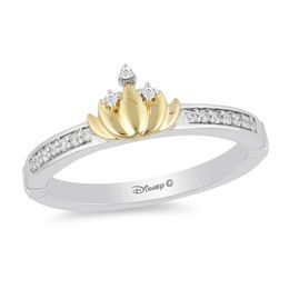 278eea453 Enchanted Disney Tiana 1/10 CT. T.W. Diamond Water Lily Ring in Sterling  Silver and 10K Gold - Size 7
