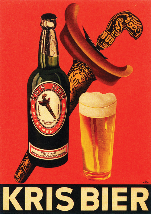 Kris Bier  Advertising in the Dutch East-Indies (Nederlands-Indië). A reminder of the Tempo Doeloe.