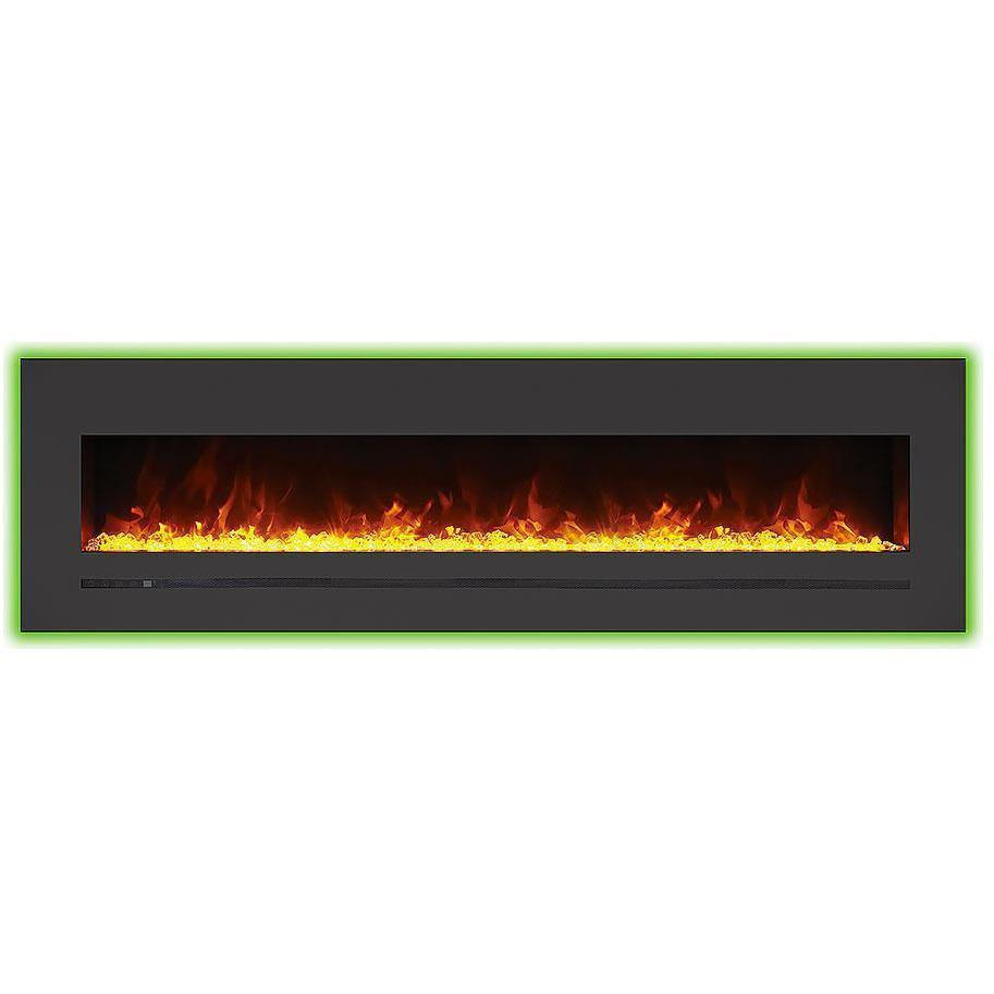 Flash Sale Sierra Flame Wall Mount Built In Steel Surround