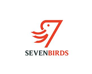 Seven Birds Logo design - Logo can used in all business