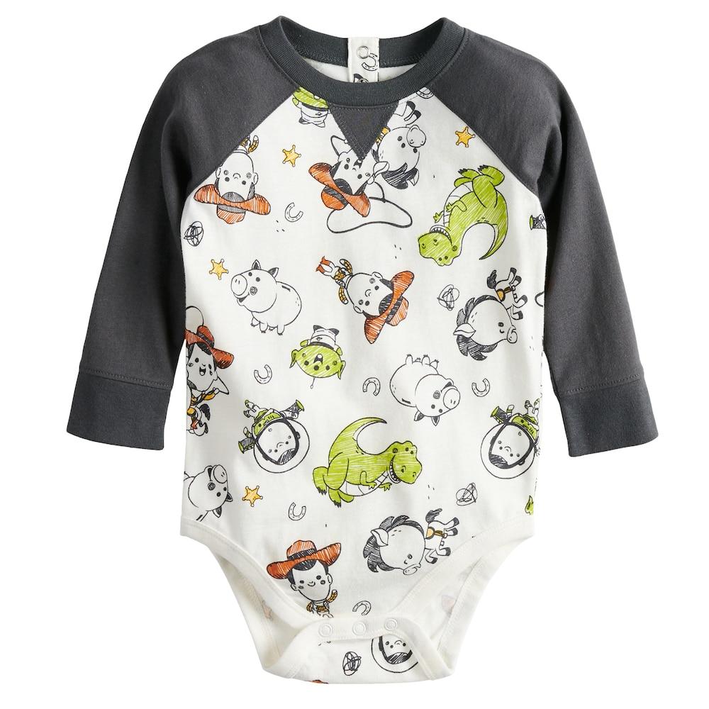 83ffe1d14311 Disney Pixar Toy Story Baby Boy Raglan Bodysuit by Jumping Beans ...