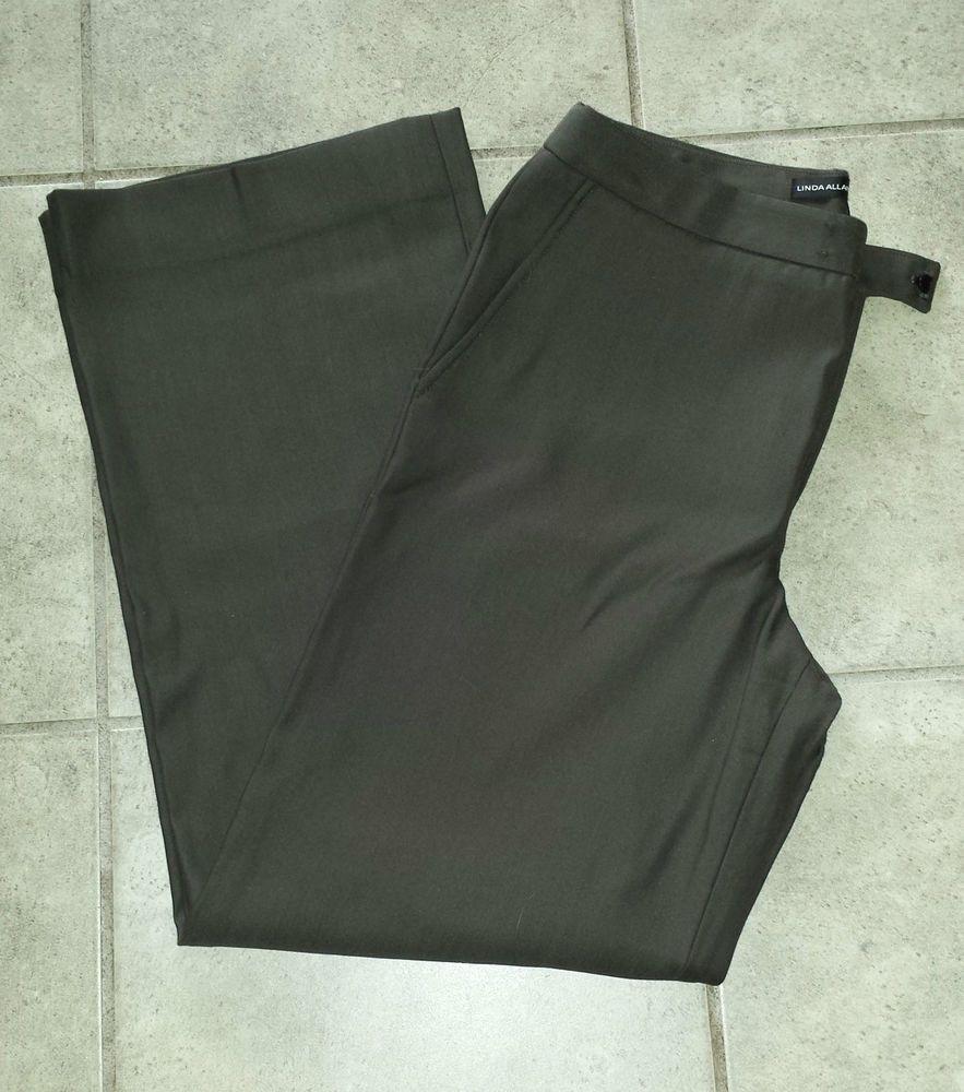 Linda allard ellen tracy dark brown womanus dress pants size