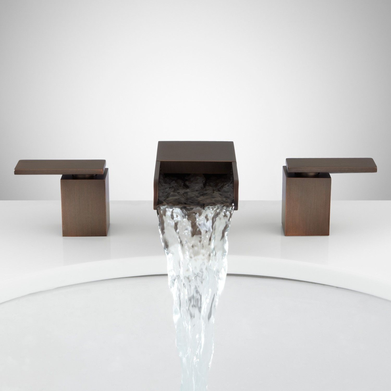 Willis widespread waterfall faucet bathroom sink faucets bathroom sku 924621 signature hardware