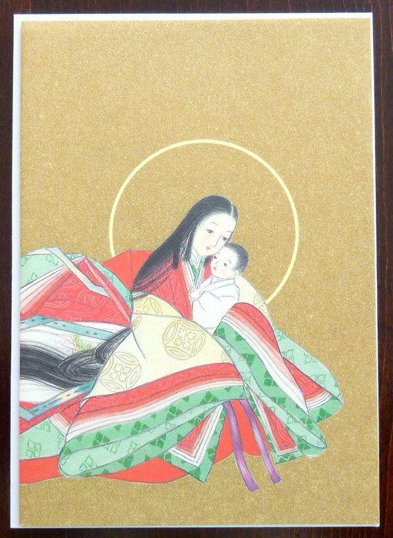 Znalezione obrazy dla zapytania japan vintage card christmas