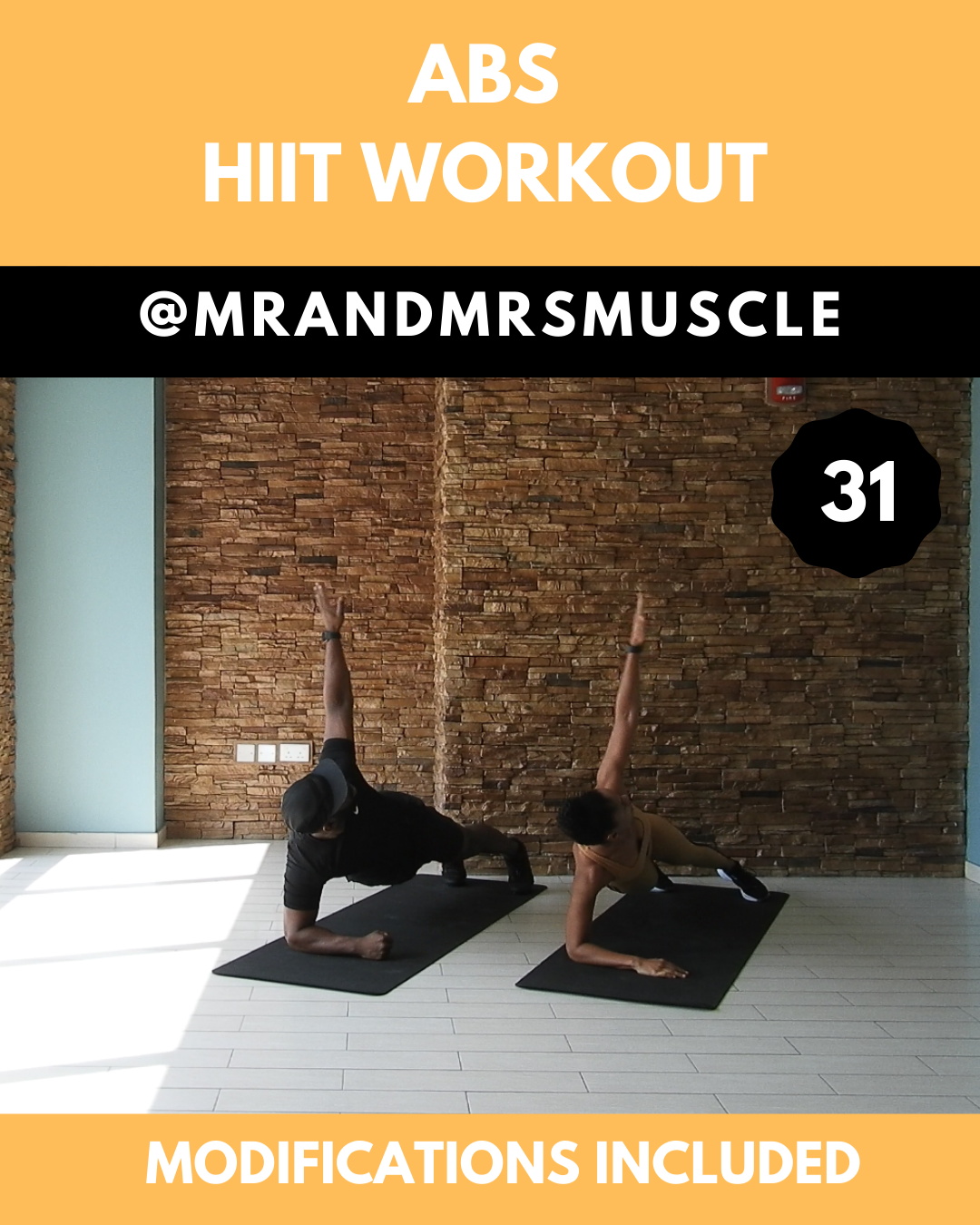 Try this 10 minute Ab and oblique sculpting HIIT Workout with Beginner modifications. Pin, Share and...