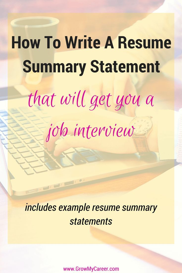 How To Write A Resume Summary Stunning Resume Statement Summary  Writing A Resume  Job Search  Job .