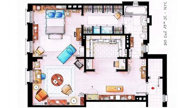 Surprising Carrie Bradshaw Apartment Floor Plan Contemporary