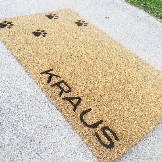 Welcome Mat Doormat With Personalized Custom Last Name Or