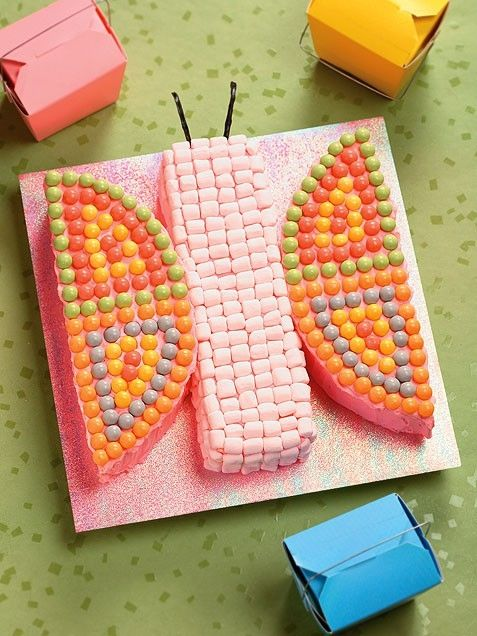 Cute and easy butterfly cake idea 100 Easy Kids Birthday Cake