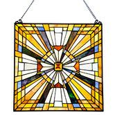 Found it at Wayfair - Stained Glass Pharaoh's Jeweled Window Panel