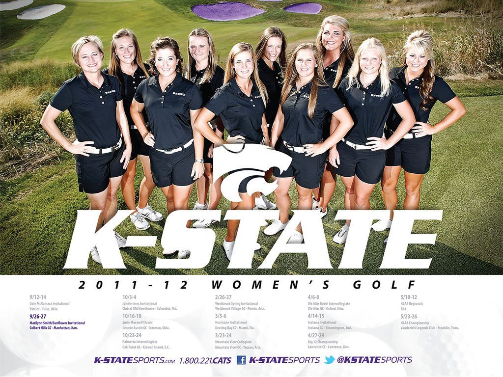 2011 12 K State Women S Golf Poster Desktop Wallpaper Kansas State Wildcats Kansas State University Kansas State