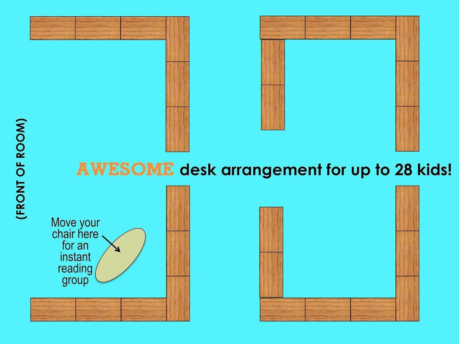 Best Classroom Desk Arrangement Great for reading groups YourTeachersAide Teachingeducation Pinterest