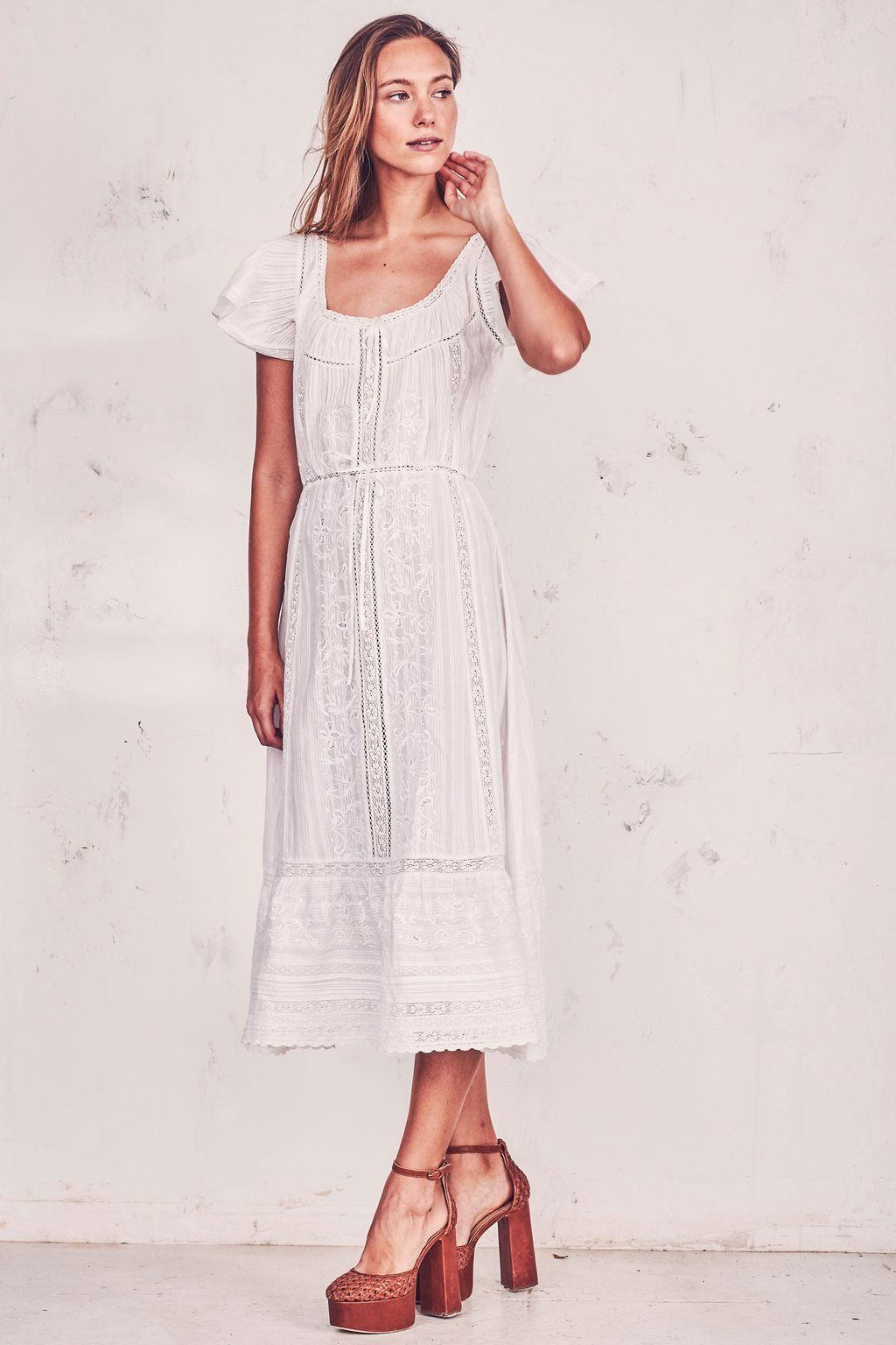 Love Shack Fancy Madeline Dress Dresses Casual Dresses Midi Maxi Dress [ 1536 x 1024 Pixel ]