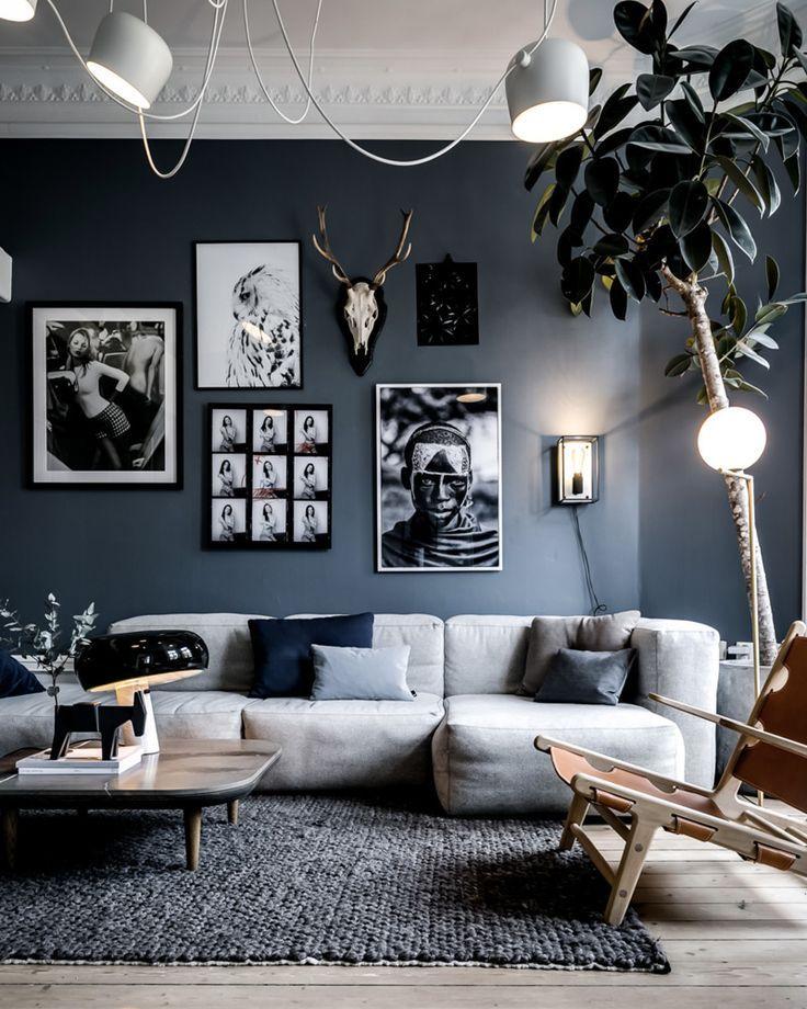 Remark Dcorer Votre Salon Avec Le Gris Et Le Blanc Deco Salon
