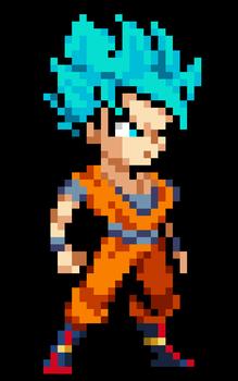 Son Goku Ssj Blue By Pusheads Cool Pixel Art Pixel Art Characters Pixel Art Design