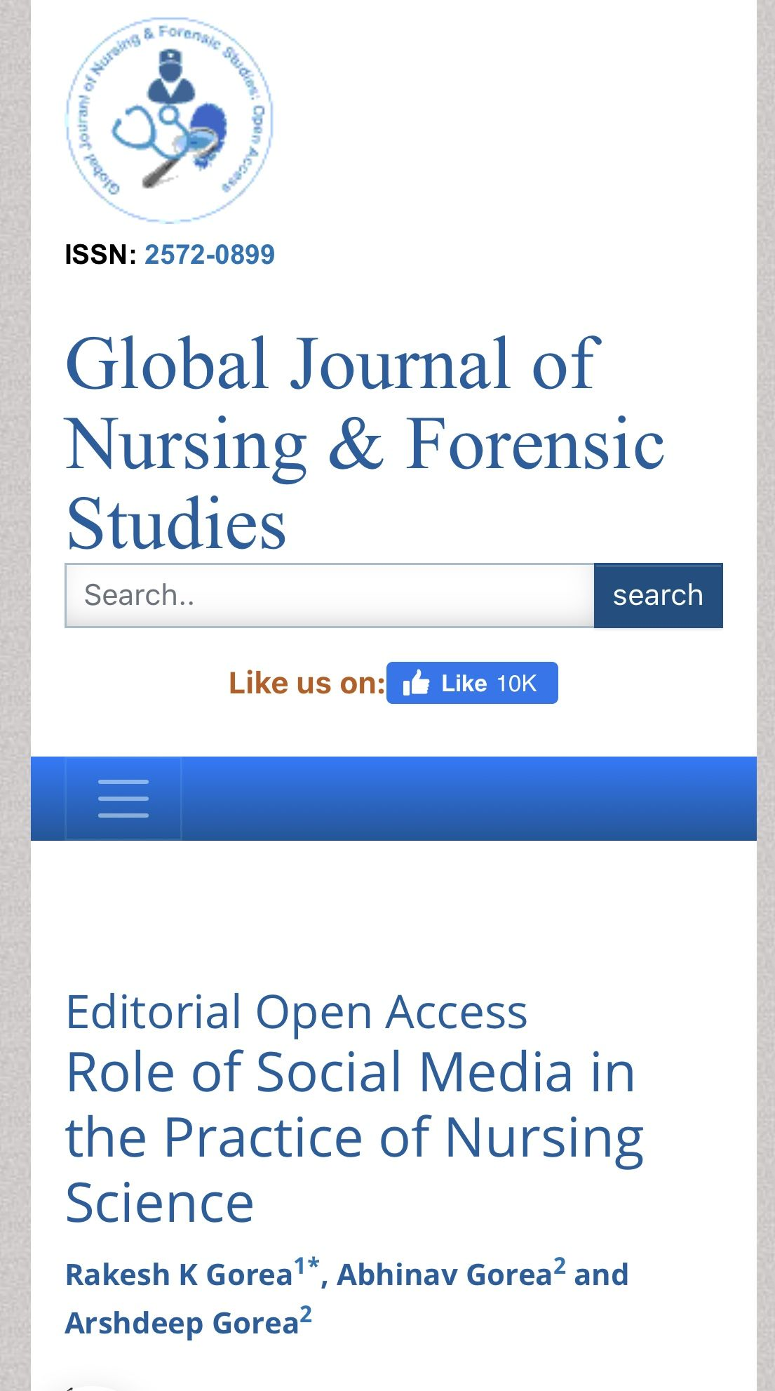 Role of Social Media in the Practice of Nursing Science