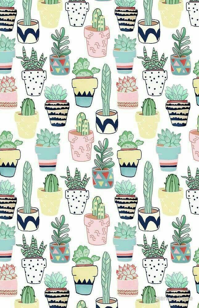 Pin Oleh Phakwuayy Di Cactus Lockscreens Karya Seni Dekorasi Lukisan Kaktus Wallpaper Ponsel