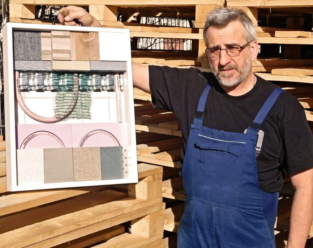 Unser dienstältester Mitarbeiter Alfred Offermann, seit 1990 bei MULTIBETON, mit einem Exponat S 6/4