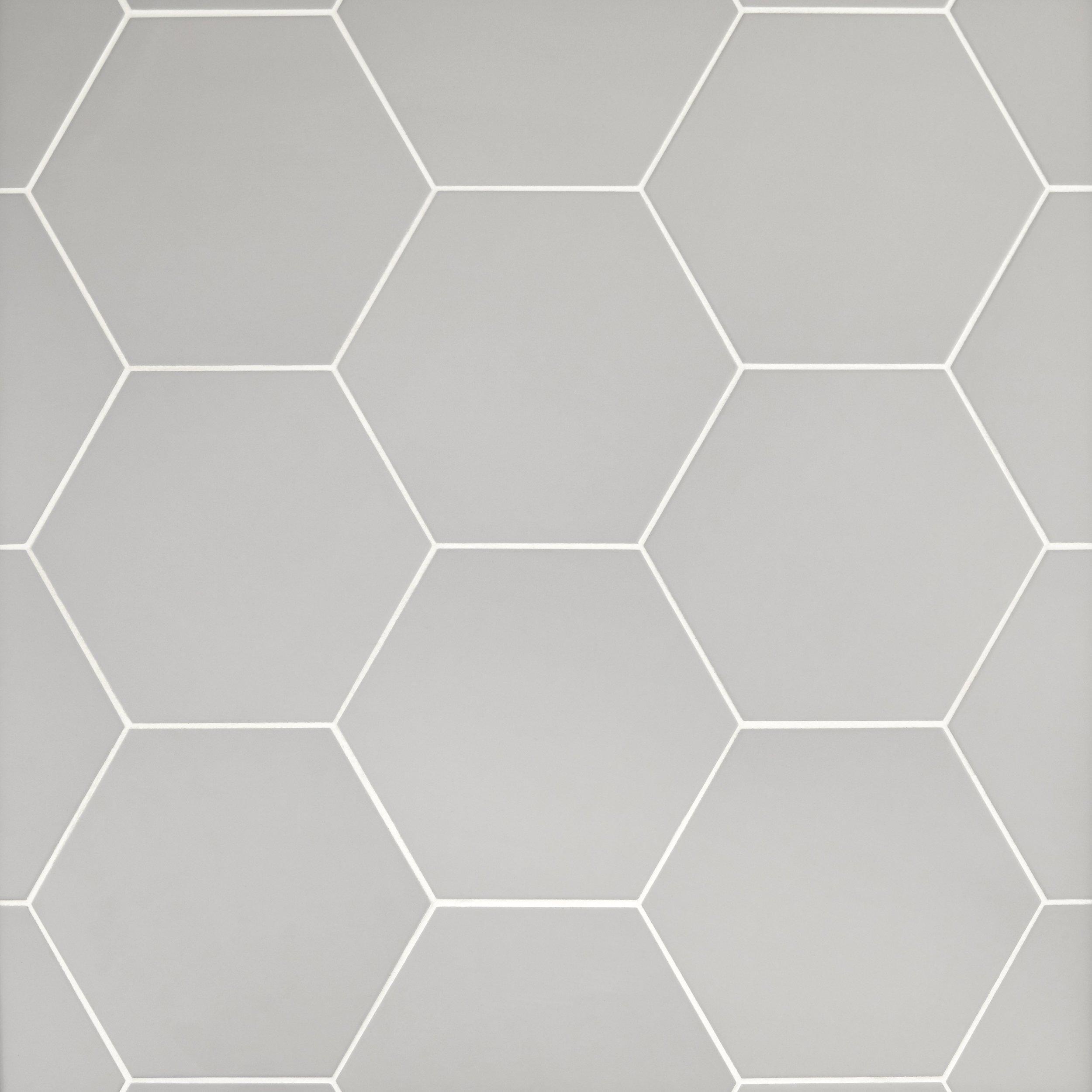 Opal Gray Hexagon Porcelain Tile Hexagon Tile Floor Patterned