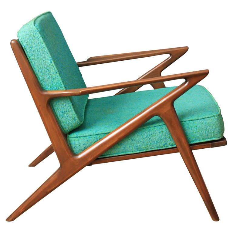 Vintage Mid Century Z Chair By Poul Jensen For Selig At 1stdibs