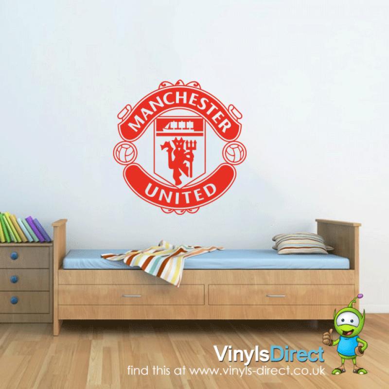 manchester united wall sticker uk | owens room 170 | pinterest