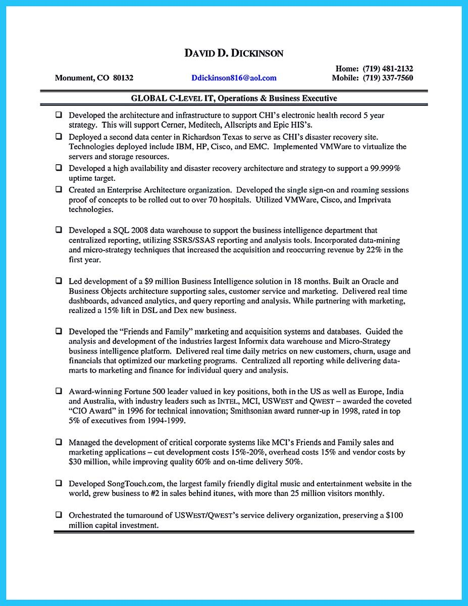 Cool Outstanding Cto Resume For Professionals Job Cover Letter Cover Letter For Resume Resume
