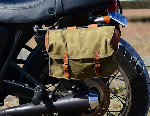 Vintage French Military Messenger Bags With Mounting Brackets And