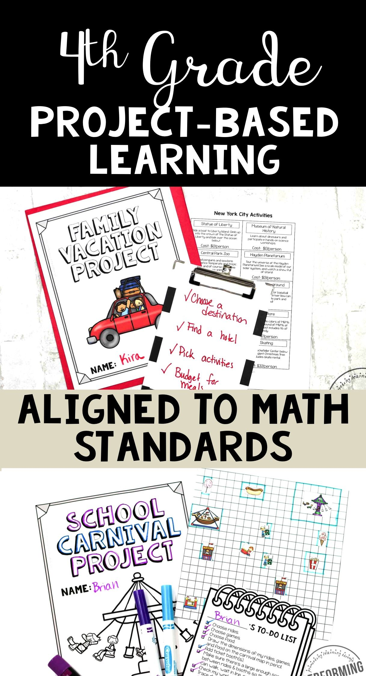 Math Project-based Learning for 4th Grade Bundle: 6 Awesome Projects ...