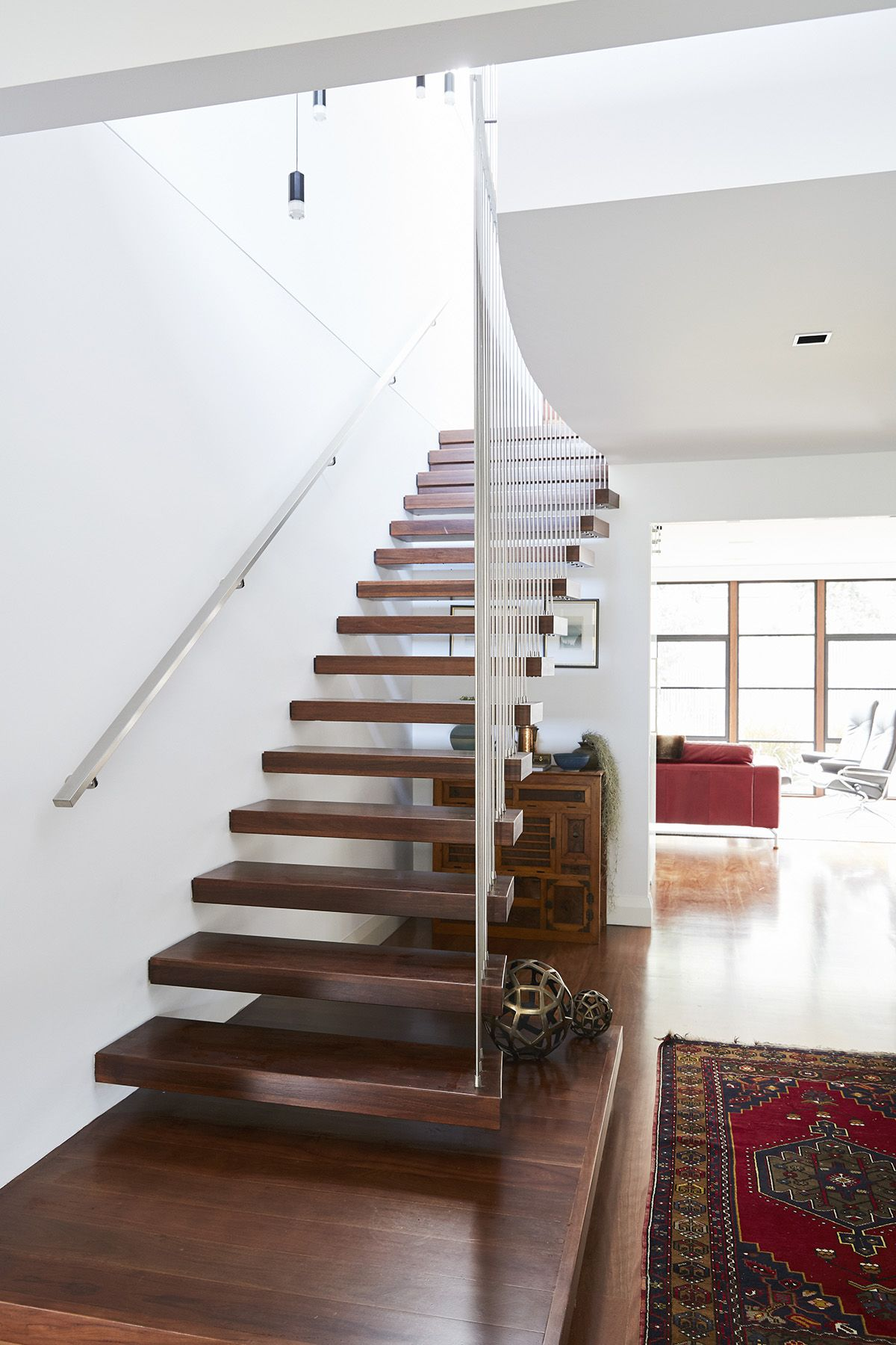 Best Stairs Floating Cantilevered Grey Ironbark Timber 400 x 300