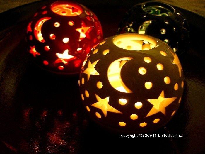 Celestial White Candleholder Ceramic Candle Holder Christmas Home