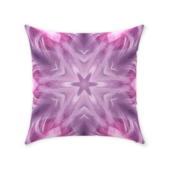 Throw Pillows Pastel Kaleidoscope Abstract Home Decor Sofa Pillows