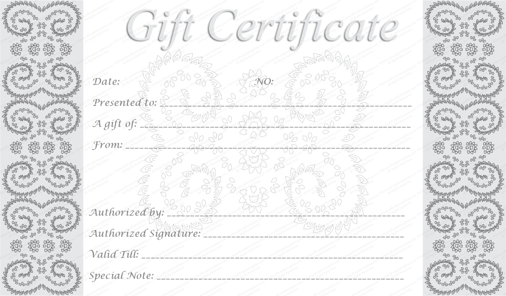 Doc750320 Printable Gift Certificates Free Template click – Certificates Free Download Free Printable