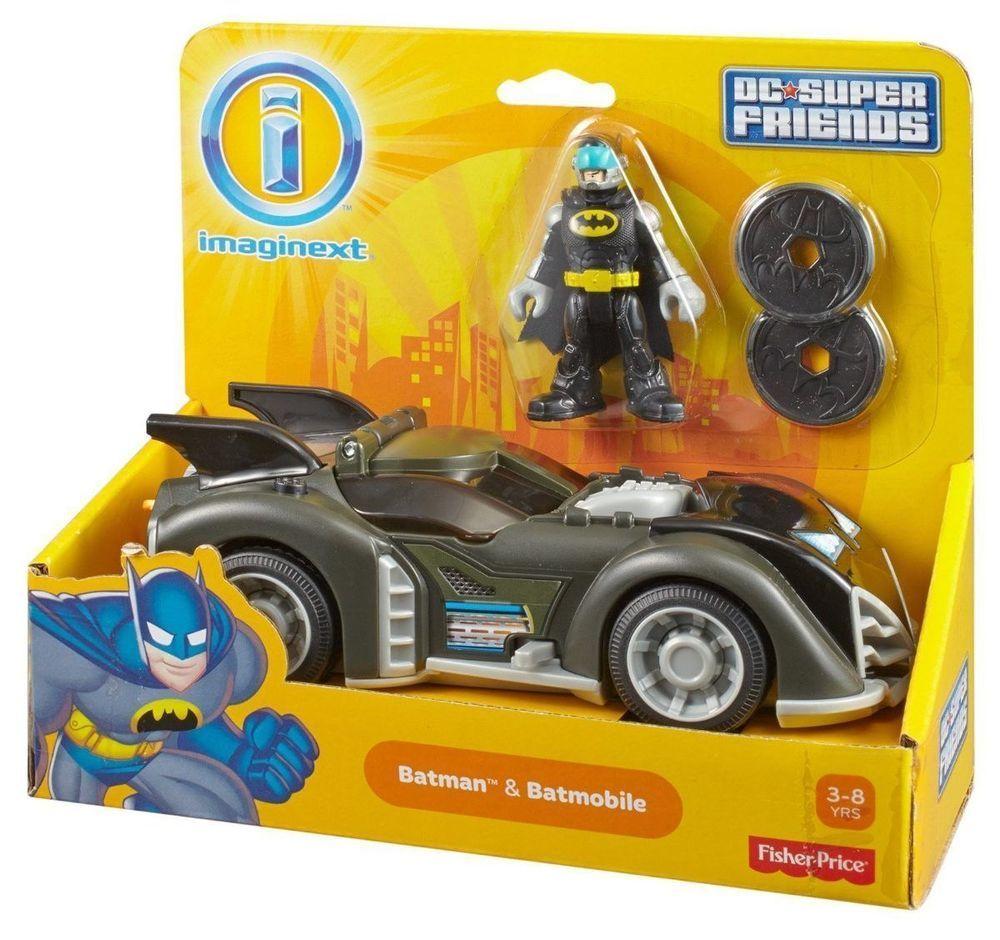 Fisher Price Imaginext DC Superfriends BATMAN & BATMOBILE